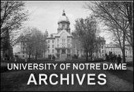 The University of Notre Dame Archives